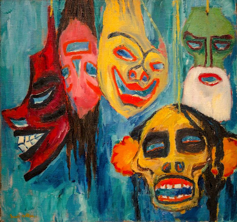 Naturaleza muerta de máscaras III - Emil Nolde - Historia Arte (HA!)
