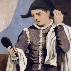 Arlequín con espejo