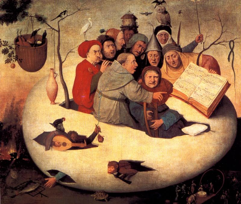 Zangers en musici en een ei