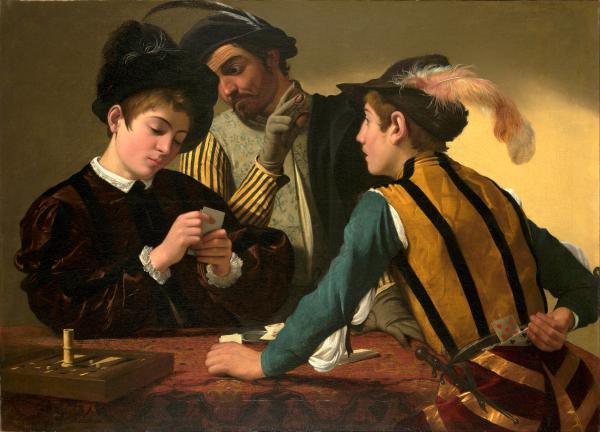 Jugadores de cartas - Caravaggio - Historia Arte (HA!)