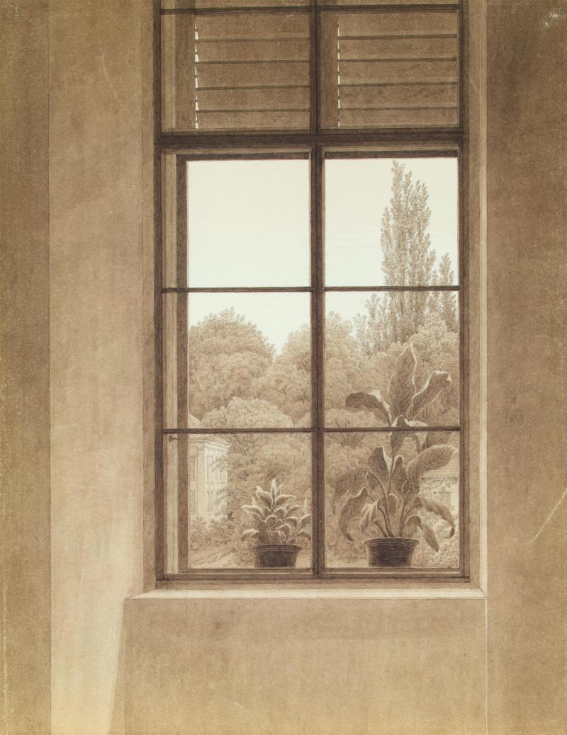 Fenster mit Blick auf den Park