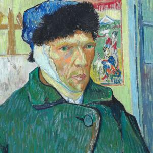 Zelfportret met verbonden oor