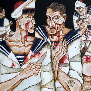 Pelea de bar entre marineros, 1981