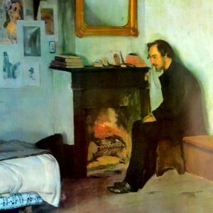 Un bohemio: Erik Satie en su estudio.