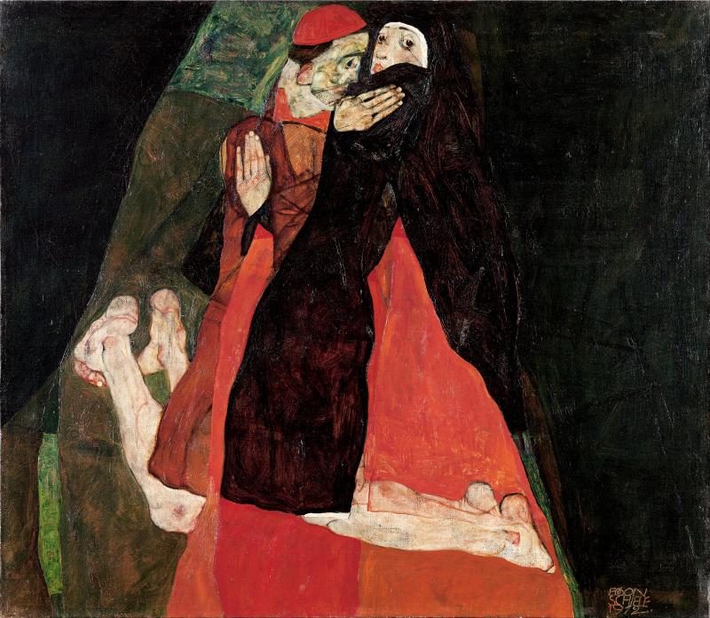 Kardinal und Nonne (Liebkosung)