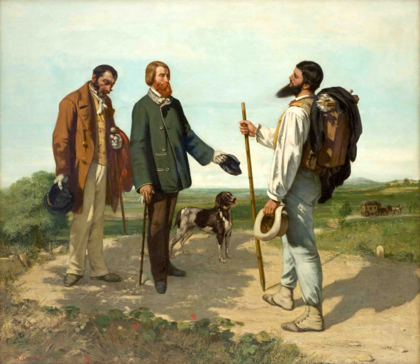 El encuentro - Gustave Courbet - Historia Arte (HA!)