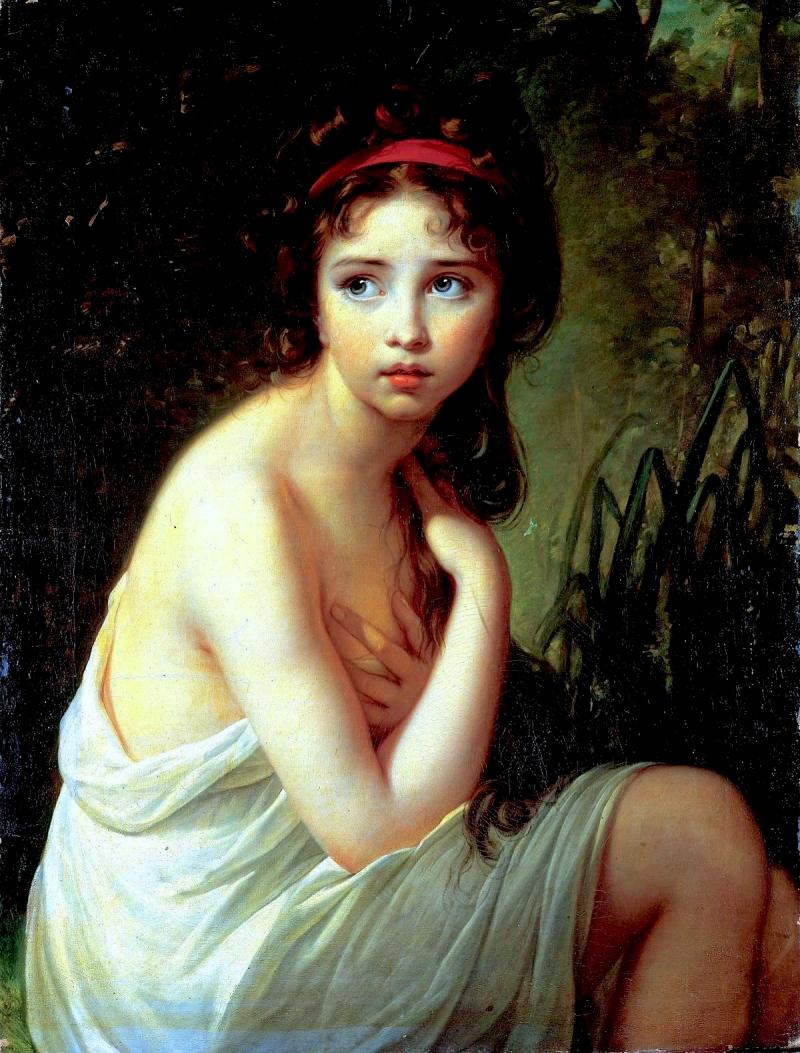 Julie Lebrun en baigneuse