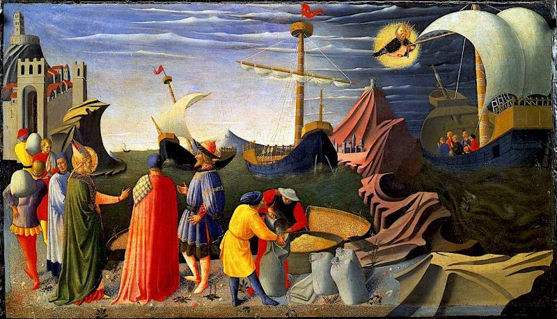 San Nicola procura il grano ai miresi