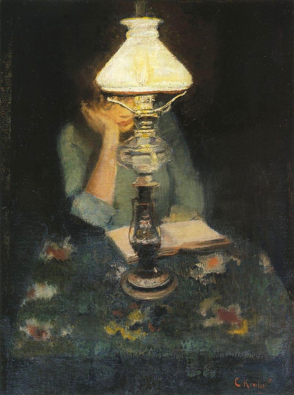Oda med lampe