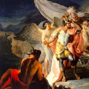 Aníbal vencedor que por primera vez mira a Italia desde los Alpes
