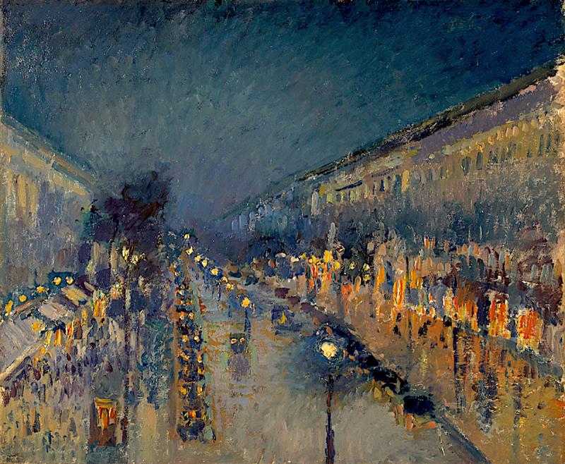 Boulevard Montmartre, Effet de nuit