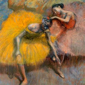 Deux danseuses jaunes et roses