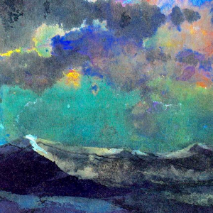 Dunkeles Meer (Grüner Himmel)
