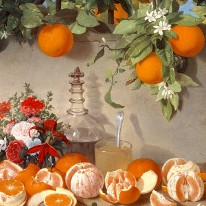 Bodegón de naranjas