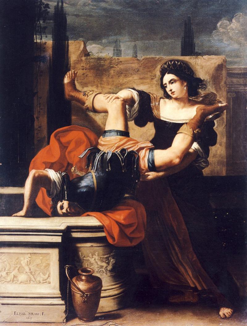 Timoclea uccide il capitano di Alessandro Magno