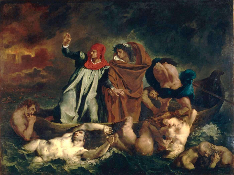 Dante et Virgile aux enfers