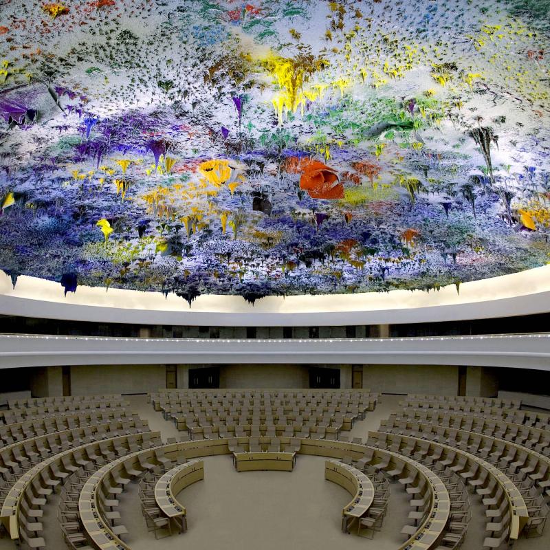 Cúpula de la Sala XX de los Derechos Humanos de laONU