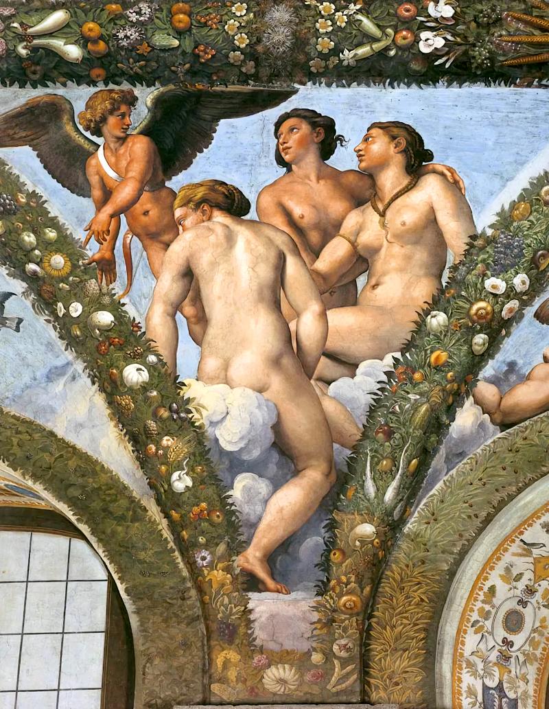 Cupido y las tres gracias