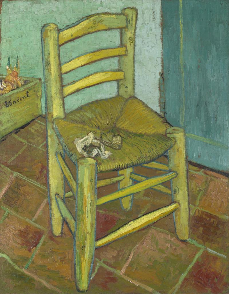 Vincent's stoel met zijn pijp