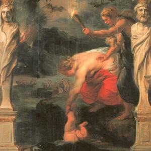 Achilles dompelde onder in de rivier de Styx