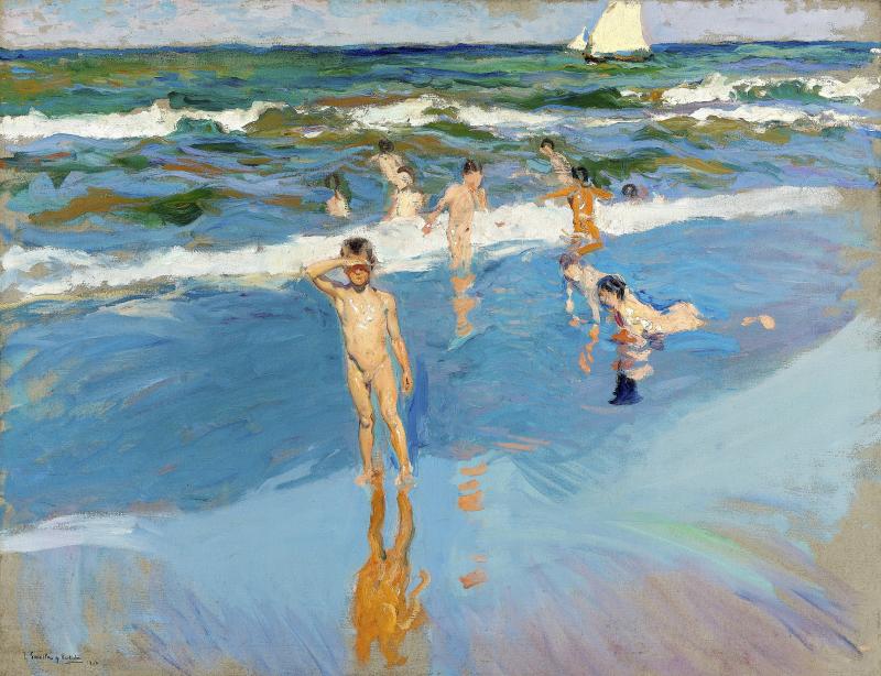 Niños en el Mar, Playa de Valencia.