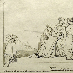 Andromache sees Hector being dragged
