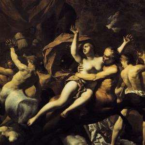 De strijd tussen de Lapithen en Centauren op bruiloft van Pirithoüs en Hippodamea