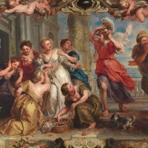Aquiles descubierto entre las hijas de Licomedes