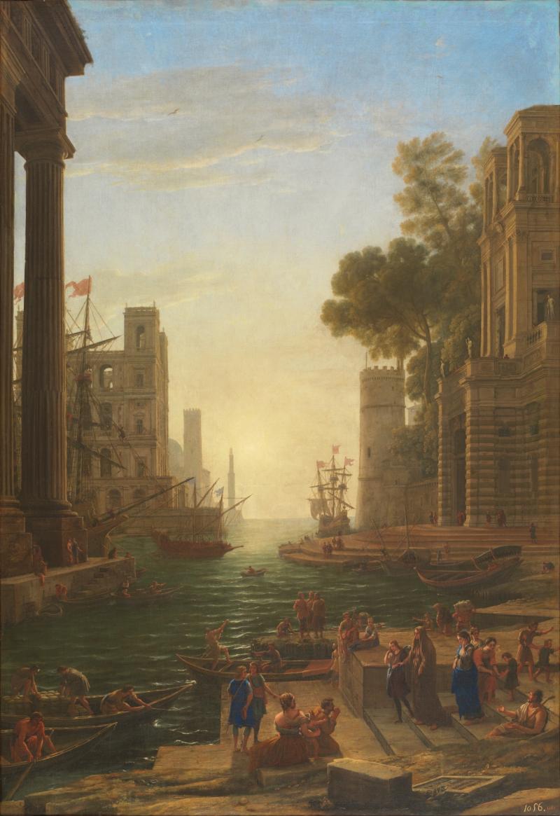 Le Port d'Ostie avec l'embarquement de sainte Paule
