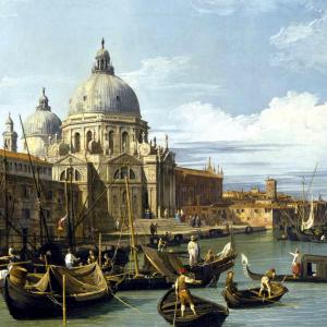Il Canal Grande e la chiesa di Santa Maria della Salute