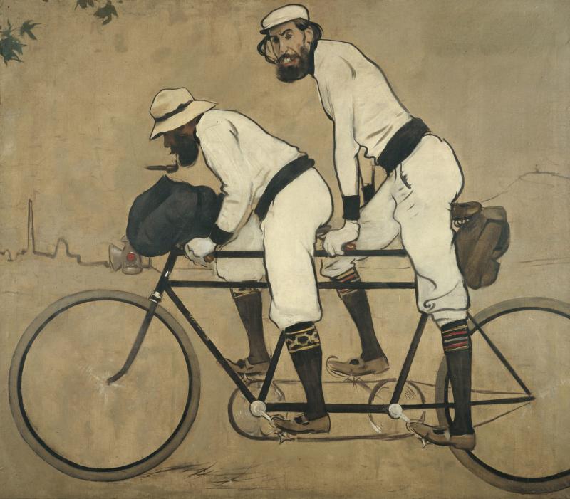 Ramón Casas y Pere Romeu en tándem