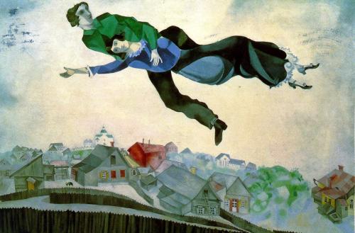 Resultado de imagen de sobrevolando la ciudad, chagall