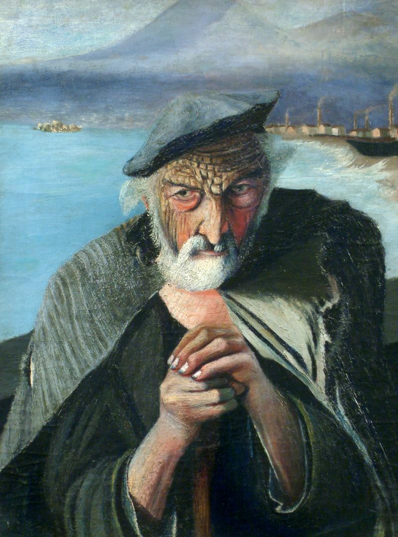 El viejo pescador, un cuadro espejo