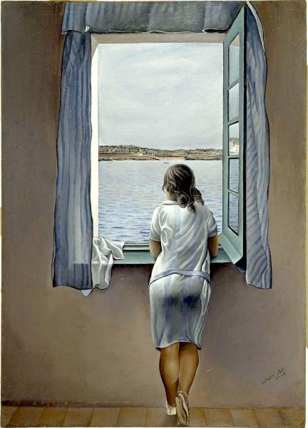 Suspiros de sal: Muchacha en la ventana - Salvador Dalí - Historia ...