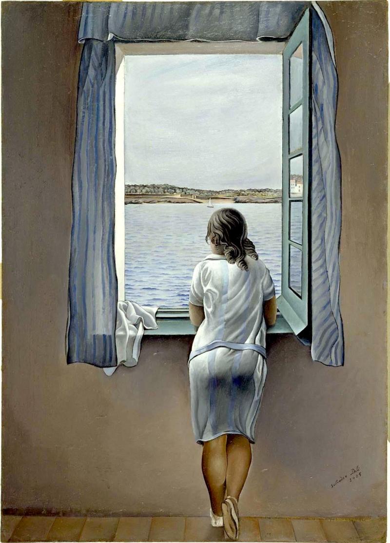 La noia en la finestra
