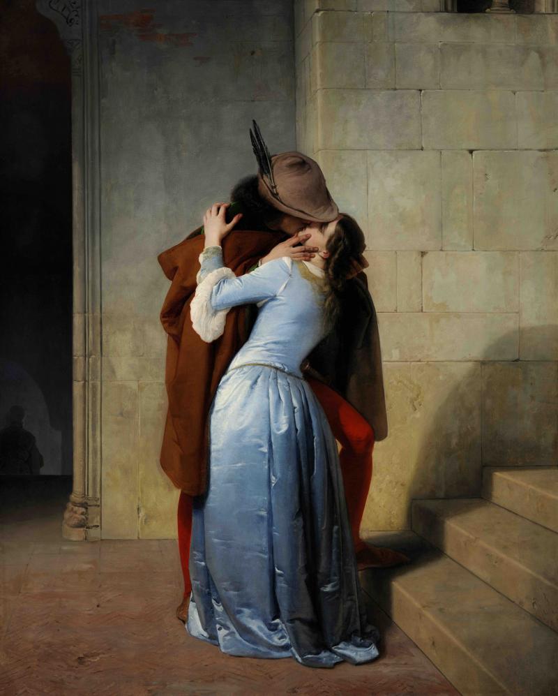 Il bacio. Episodio della giovinezza. Costumi del secolo XIV