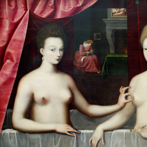Gabrielle d'Estrées et une de ses sœurs.