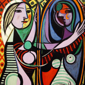 Mujer ante espejo