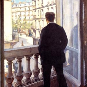 Jeune homme à sa fenêtre