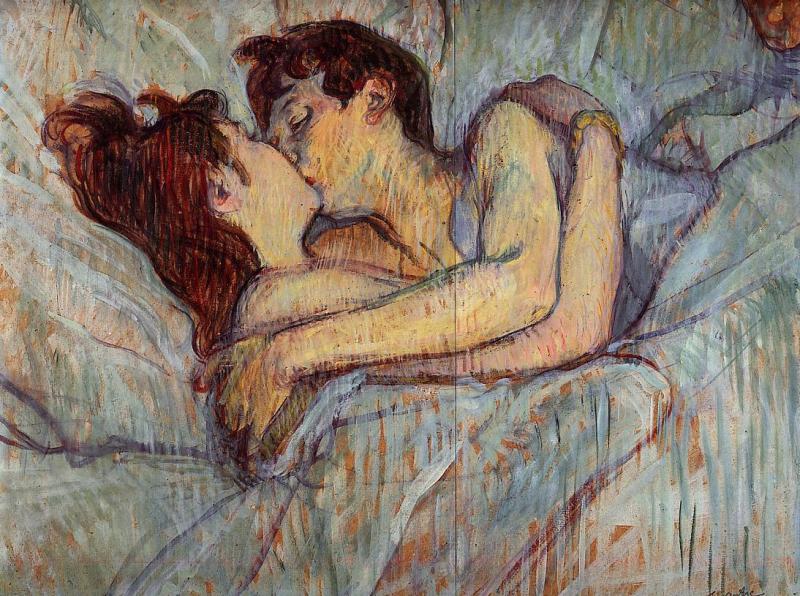 Au lit: Le baiser