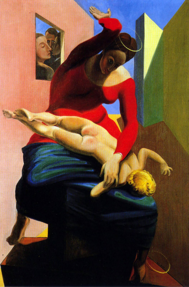 The Virgin Spanking The Christ Child Before Three Witnesses: Andre Breton, Paul Eluard, And The Painter
