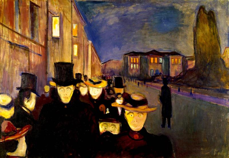 Aften på Karl Johan