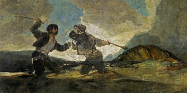 Duelo a garrotazos - Francisco de Goya - Historia Arte (HA!)