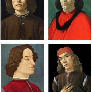 4 retratos de Botticelli