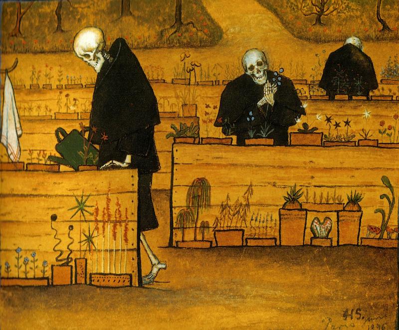 El jardín de la muerte - Hugo Simberg - Historia Arte (HA!)
