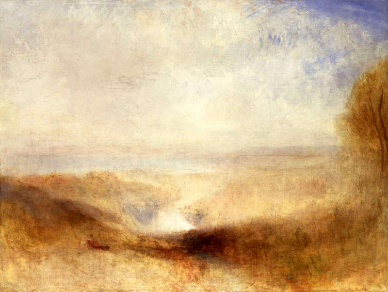 Landscape with a River and a Bay in the Background