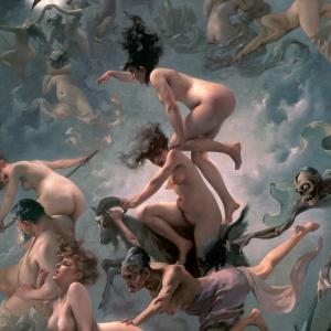 Brujas yendo al sabbath