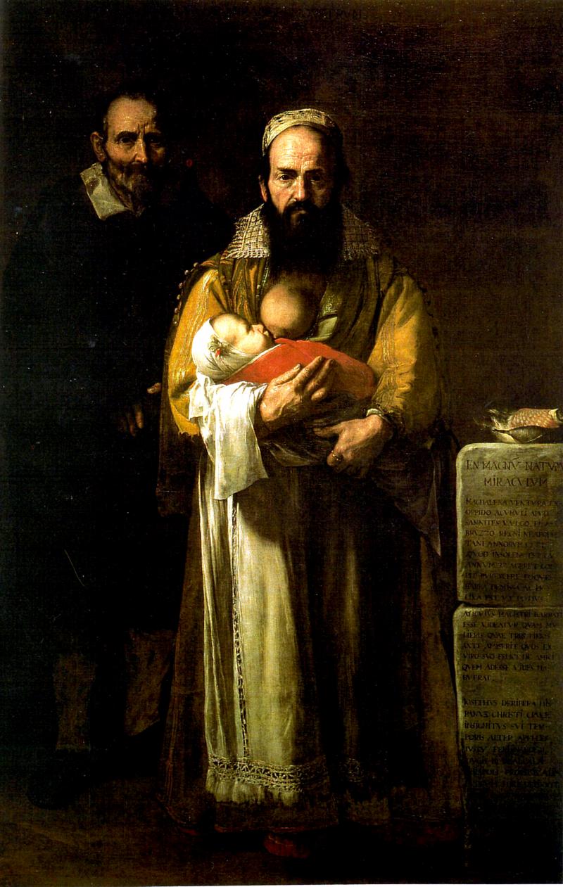 Maddalena Ventura con il marito e il figlio (o Donna barbuta)