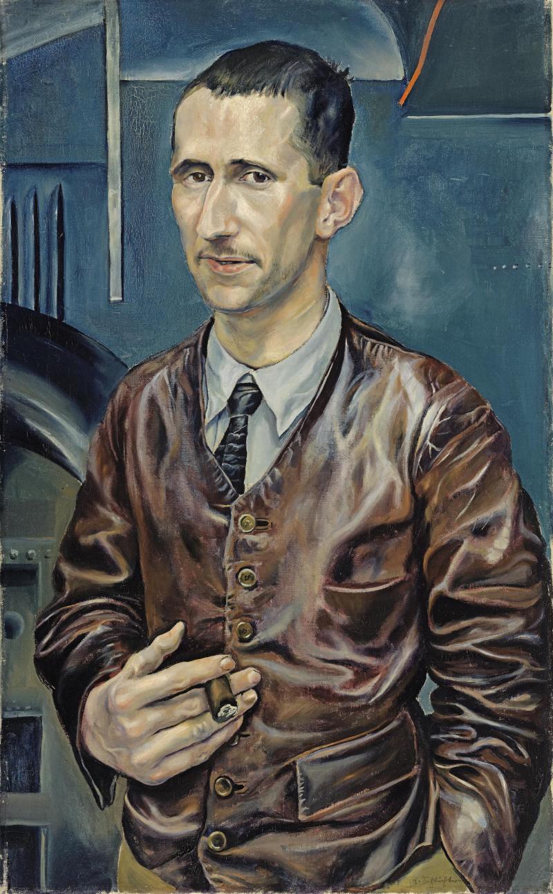 Porträt von Bertolt Brecht