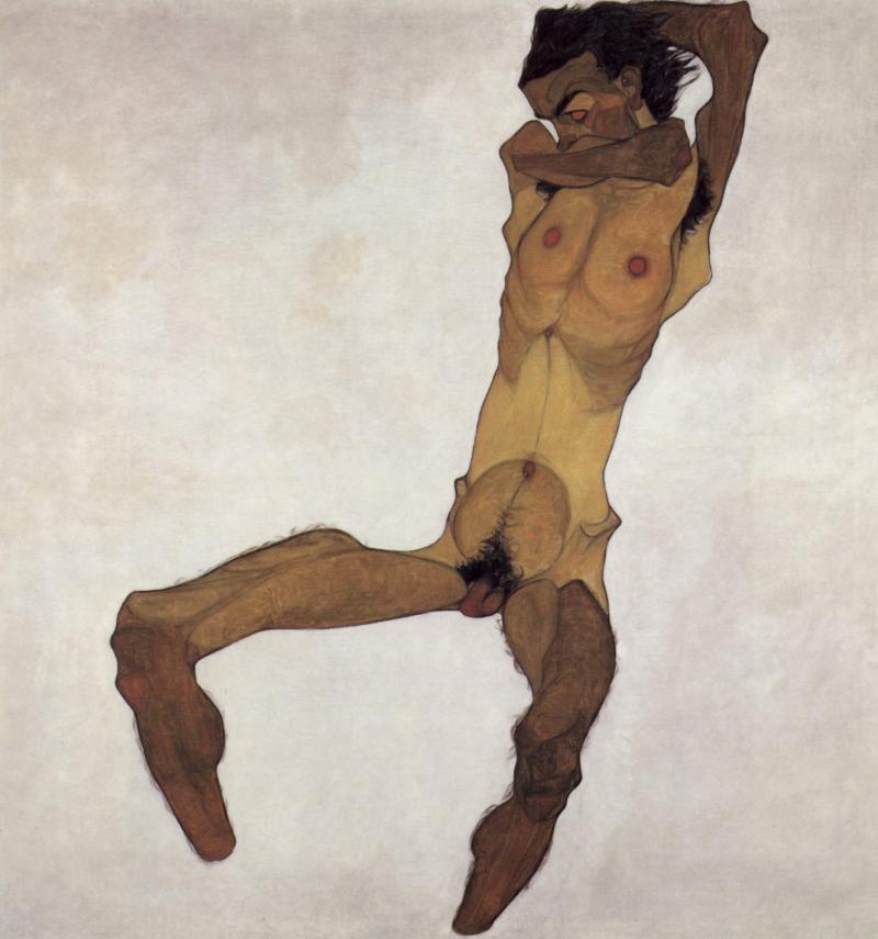 Desnudo masculino sentado (Autorretrato)